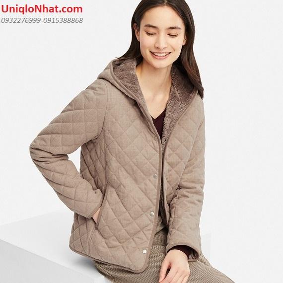 Áo lông cừu Uniqlo trần trám nâu sáng