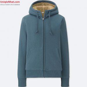 Áo nỉ lót lông cừu 2019 nữ mầu xanh coban