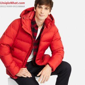 Áo phao lông vũ Uniqlo siêu ấm 2019 đỏ
