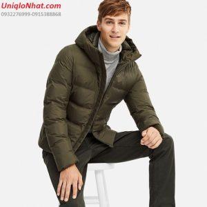 Áo phao lông vũ Uniqlo siêu ấm 2019 rêu