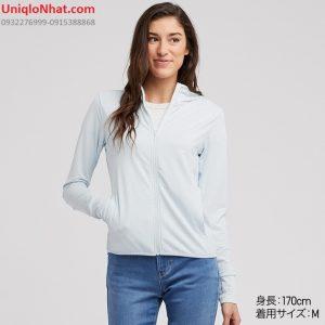 Áo chống nắng Uniqlo 2019 thun lạnh mầu xanh da trời