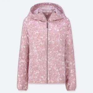 Áo gió Uniqlo nữ chống nắng mưa bụi mầu hồng