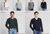Áo nỉ nam Uniqlo 2020 cổ tim siêu ấm thời trang Nhật Bản