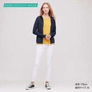 Áo chống nắng Uniqlo 2020 Nhật Bản mầu xanh đen