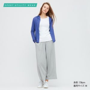 Áo chống nắng Uniqlo 2020 Nhật Bản mầu xanh blue