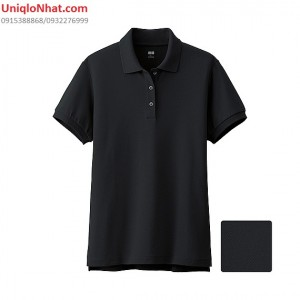 UniqloNhat - Ao phong Polo nu mau den 09 black_134868