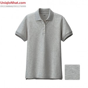 UniqloNhat - Ao phong Polo nu mau ghi 03 gray_134868