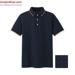 Áo phông Polo Uniqlo chấm bi
