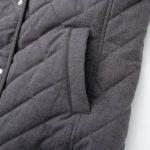 Áo trần trám lót lông cừu nữ dáng dài túi áo