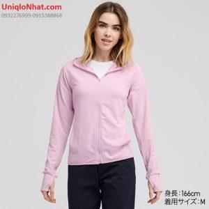 Áo chống nắng Uniqlo 2019 thun lạnh mầu hồng phấn
