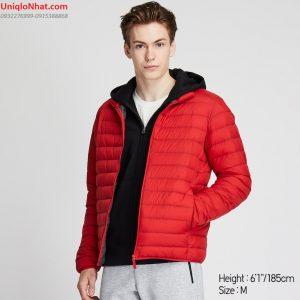 Áo lông vũ Uniqlo 2020 nam đỏ