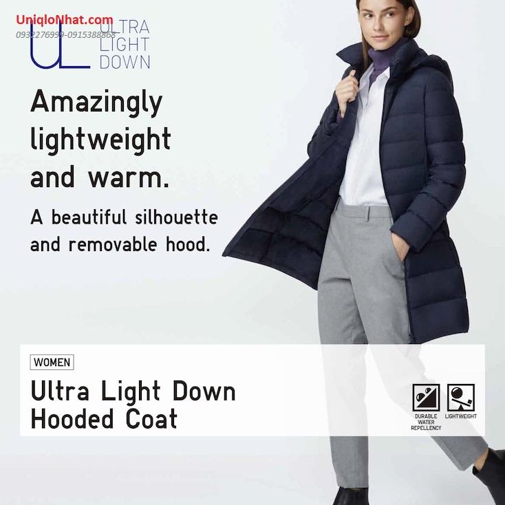 Áo lông vũ nữ Uniqlo dáng dài 2020